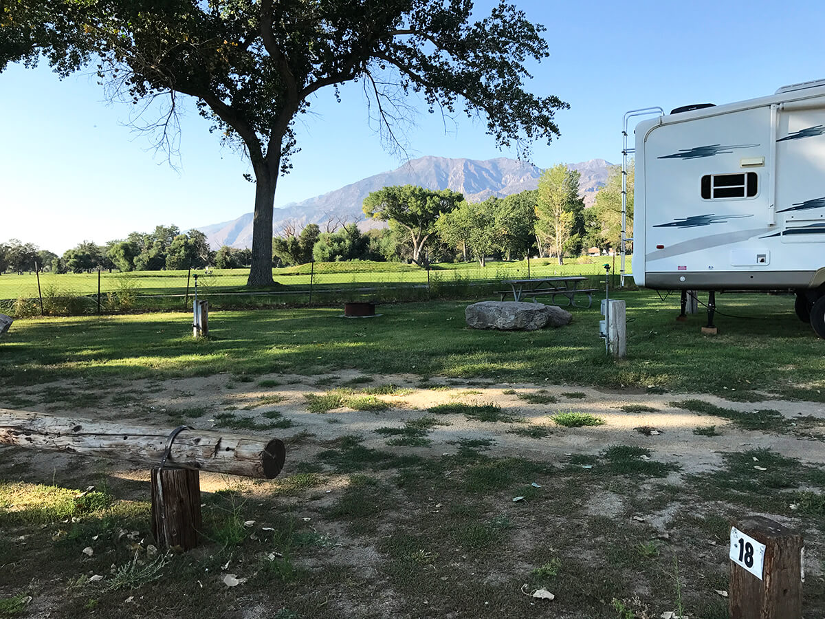 Browns Campground Bishop California Rv And Tent Camping