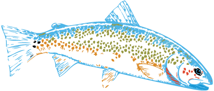 browns campgrounds logo fish